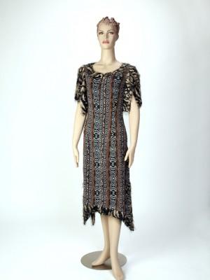 Slit Sleeve Animal Print Dress