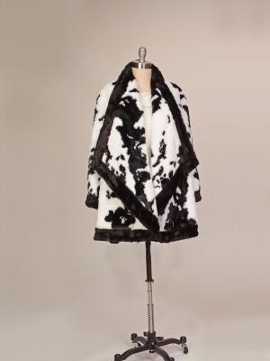 Faux Fur Black/White Jacket