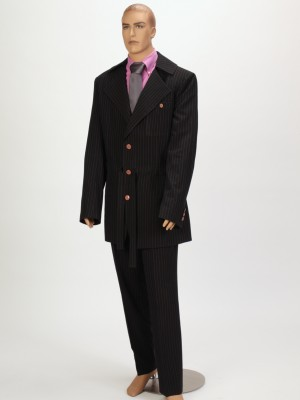 3pc Blue Pin-striped Suit