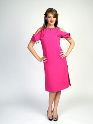 Pink Beaded Peek-a-Boo Dress