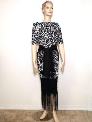 Zebra Fringe Dress