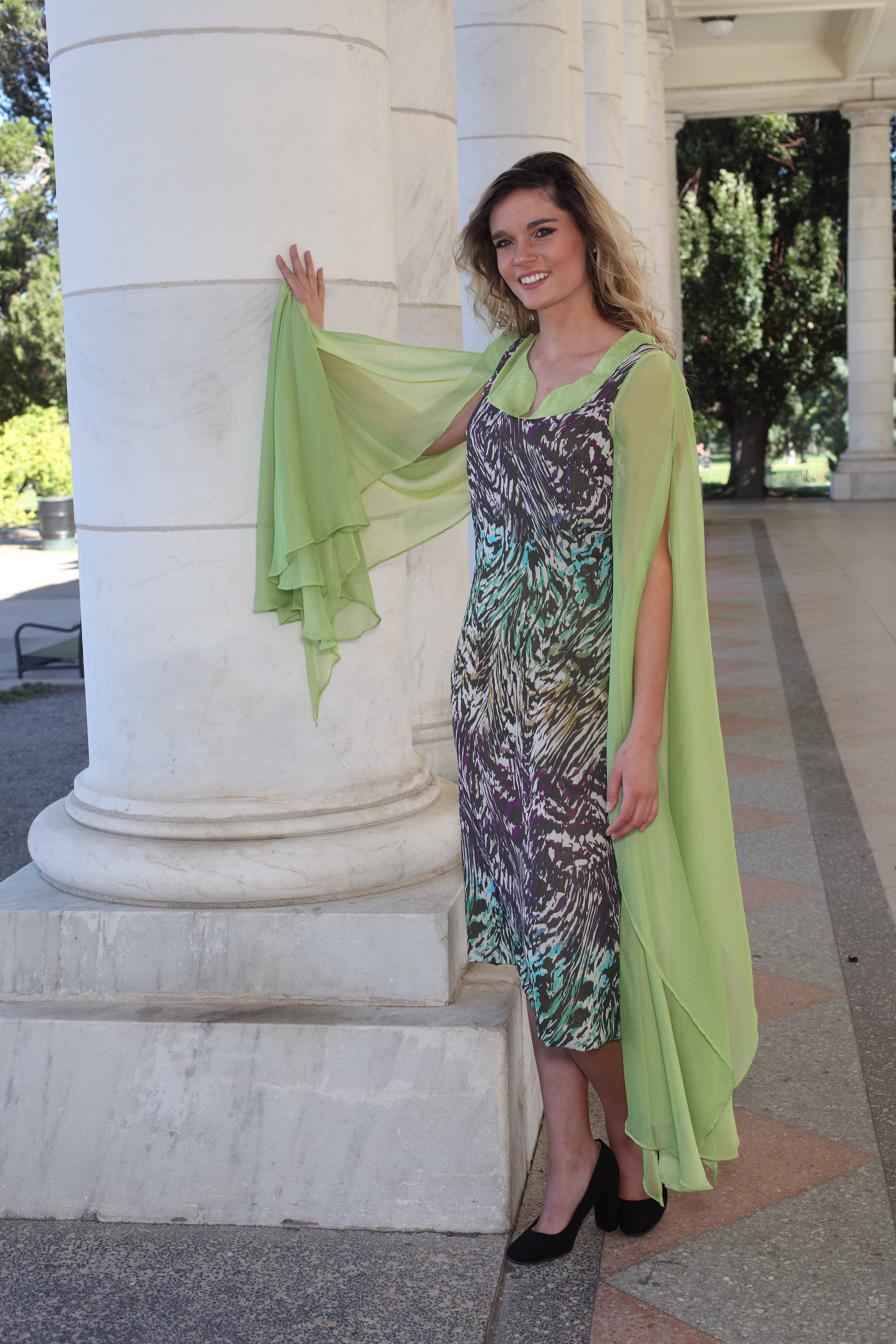 Multi_colored Chiffon Dress