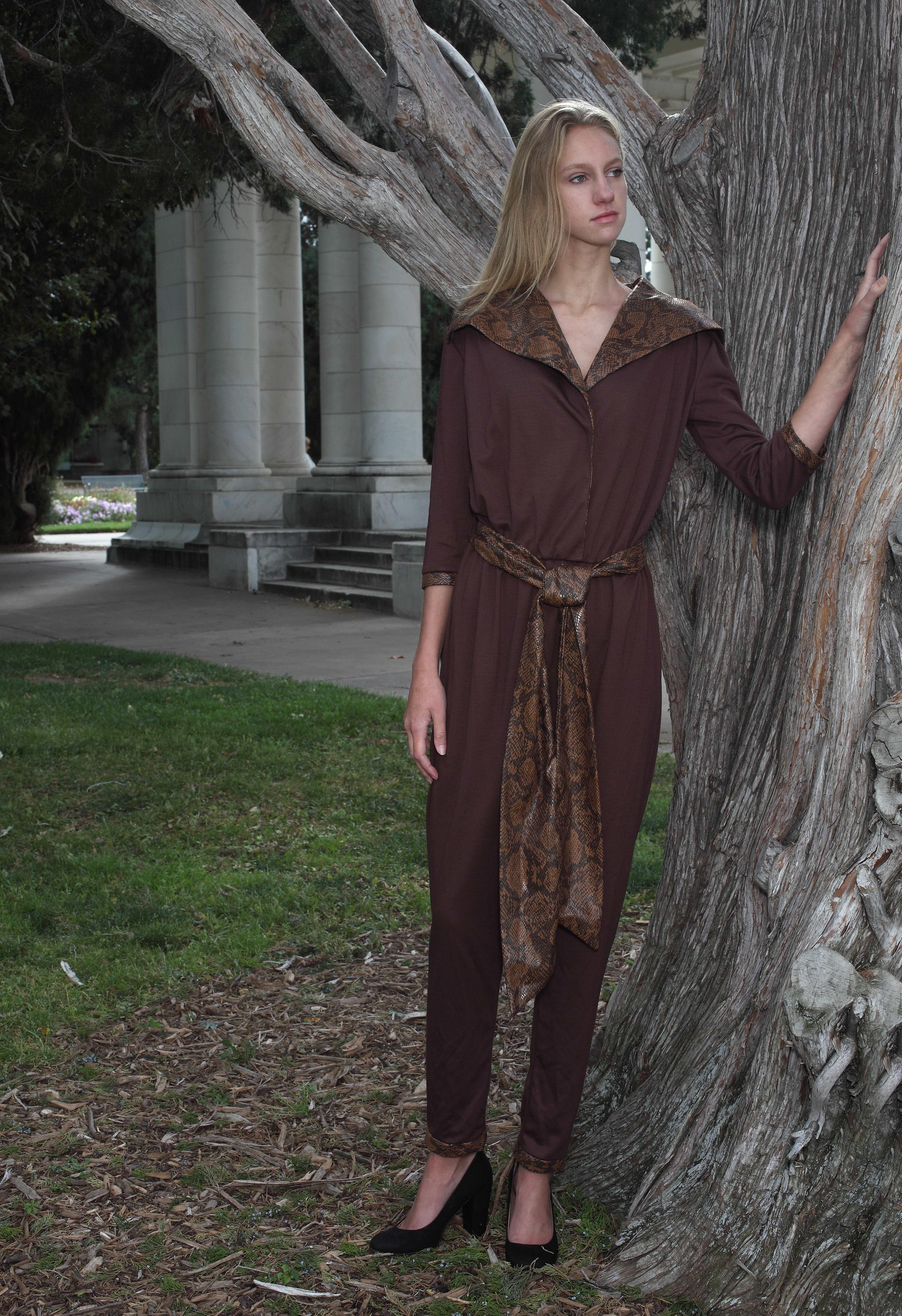 Chocolate Brown Jumpsuit
