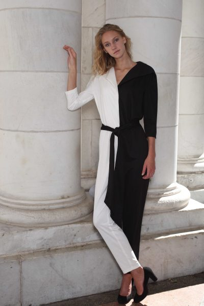 Black and White Pointe Jumpsuit
