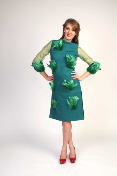 Green Feathered Dress